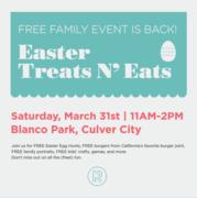 Easter Treats N' Eats + Egg Hunt with Renew Church LA