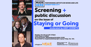 FREE Screening & Public Discussion on the issue of STAYING OR GOING
