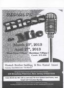 Bless The Mic (Open Mic) Paterson NJ Saturday March 23rd, 2013