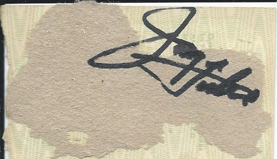 back of Statler Brothers ticket stub signed by Jimmy Fortune Feb. 13, 2019