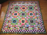 Quilt #155 - All Frogs, No Toads (Sylvia's Yoga Frogs)
