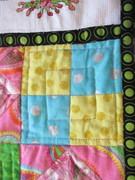 corner square of lattice work quilting