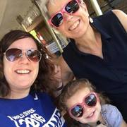 Three generations: Me, my daughter Becky, and my granddaughter Sylvia!