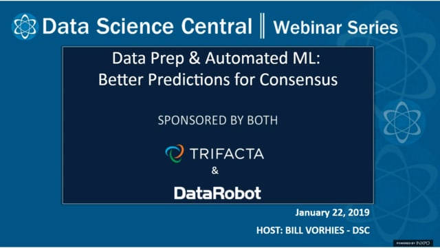DSC Webinar Series: Data Prep & Automated ML: Better Predictions for Consensus