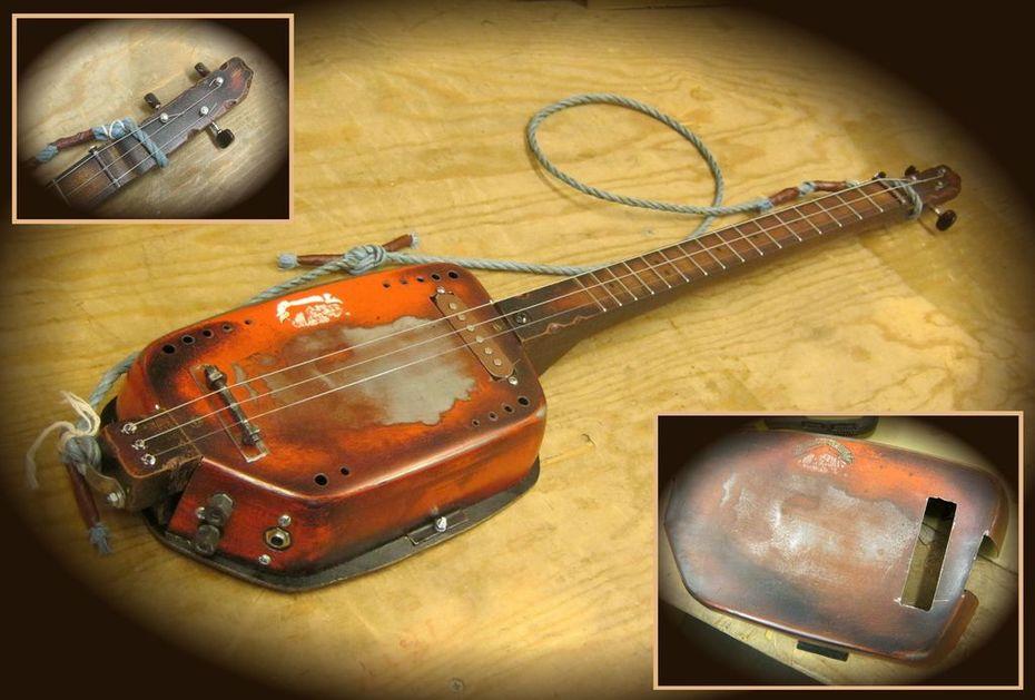 Metal Side Panel Rat Rod Guitar