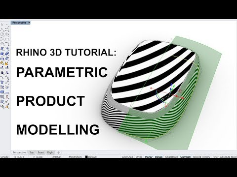 Rhino 3D Tutorial: Parametric product modelling