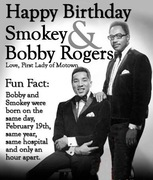 Smokey Robinson and Bobby Rogers