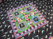 mini quilt on back of All Frogs No Toads