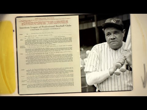Legendary Baseball Player Contracts up for sale at RR Auction