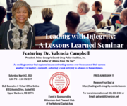 Leading with Integrity: A Lessons Learned Seminar Featuring Dr. Valencia Campbell