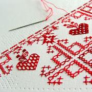 stitch on paper