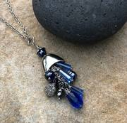 Boca Blue Pendant Necklace