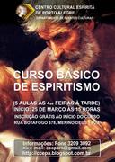 CURSO BÁSICO DE ESPIRITISMO EM PORTO ALEGRE