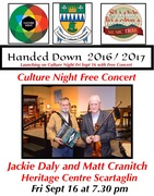 Culture Night Concert Jackie Daly and Matt Cranitch