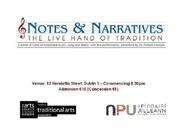 Notes & Narratives