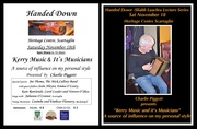 """Handed Down """"Kerry Music and it's Musicians - A source of influence on my personal style """"presented by Charlie Piggott"""