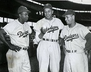 Jackie Robinson, Don Newcombe and Roy Campanella