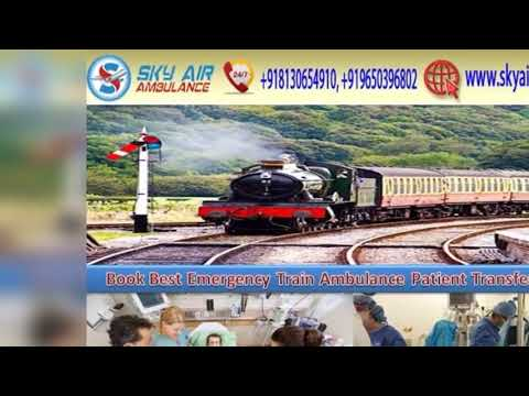 Get Emergency Train Ambulance Service in Ranchi or Patna with All Medical Facilities