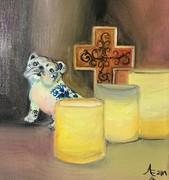 Porcelain Bulldog Oil Feb 2019