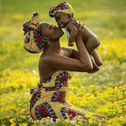 African Mother & Child