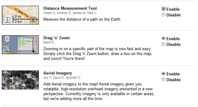 Distance Measurement in Google Maps Labs