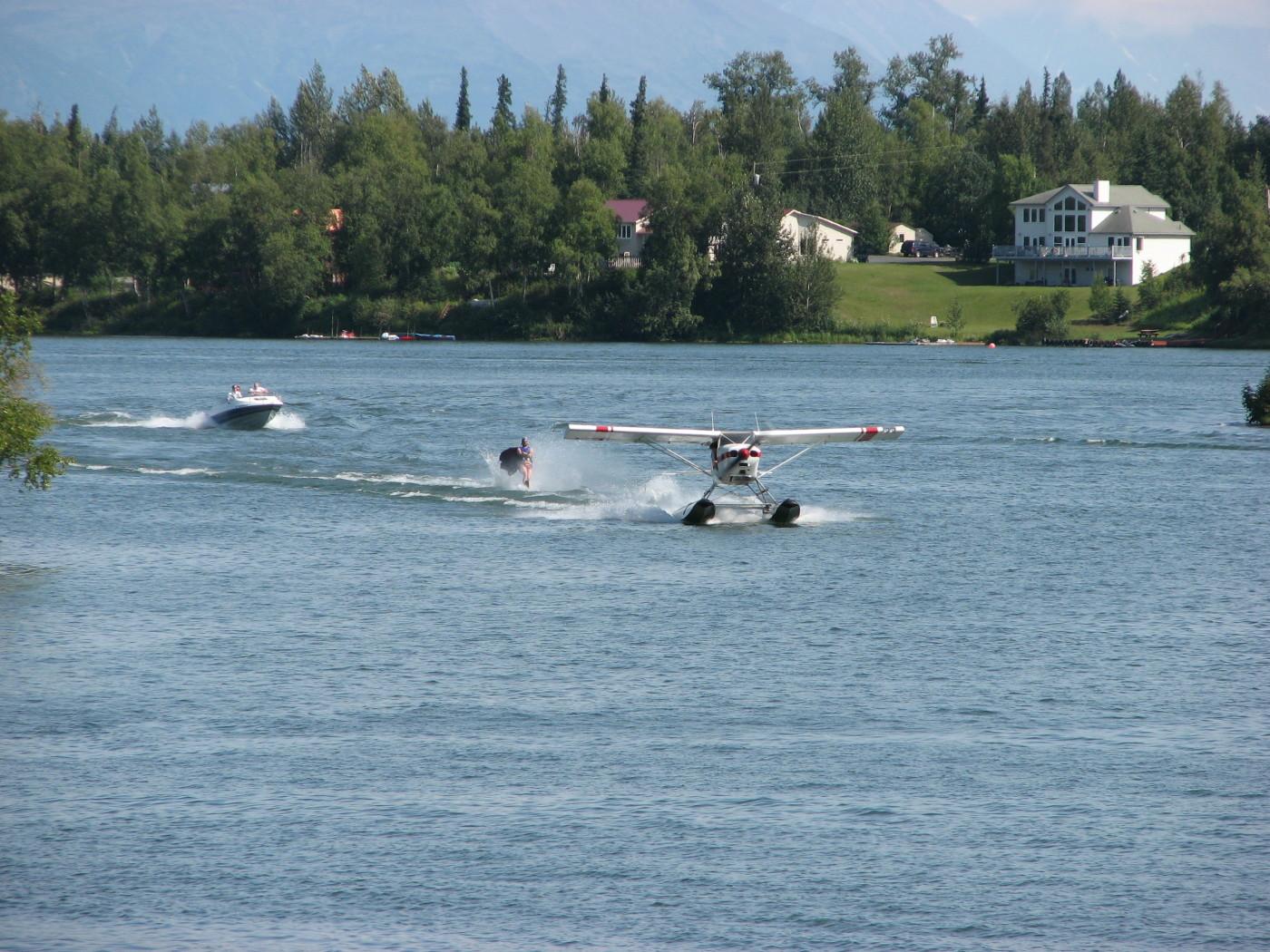Waterskiing Alaskan style