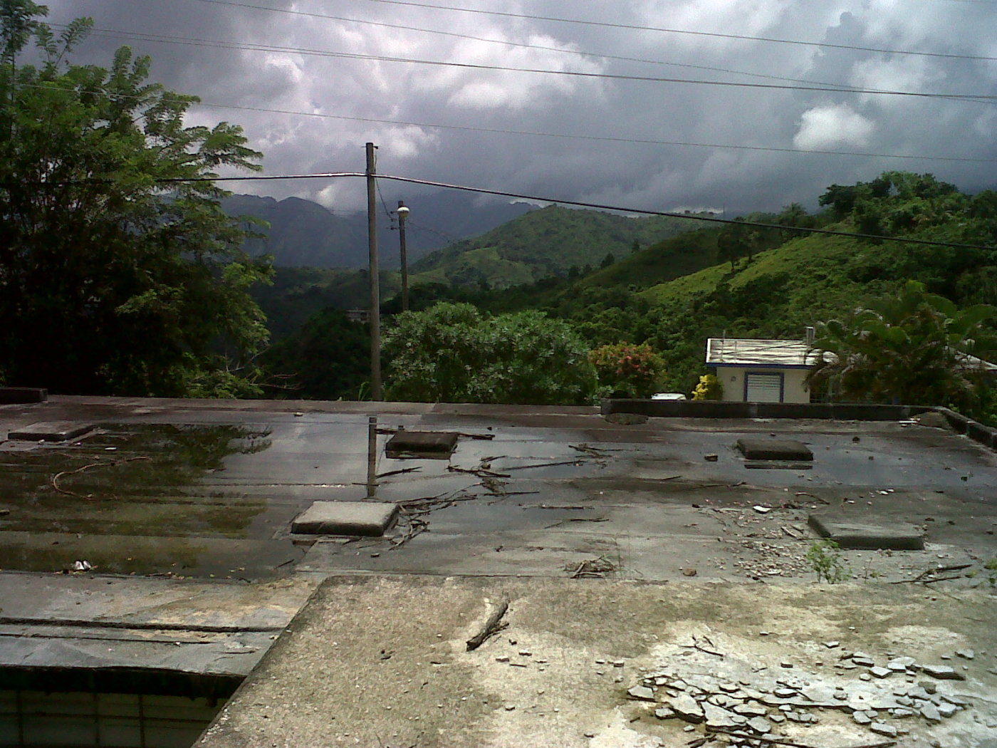 My view while making as built @ rooftop in ciales