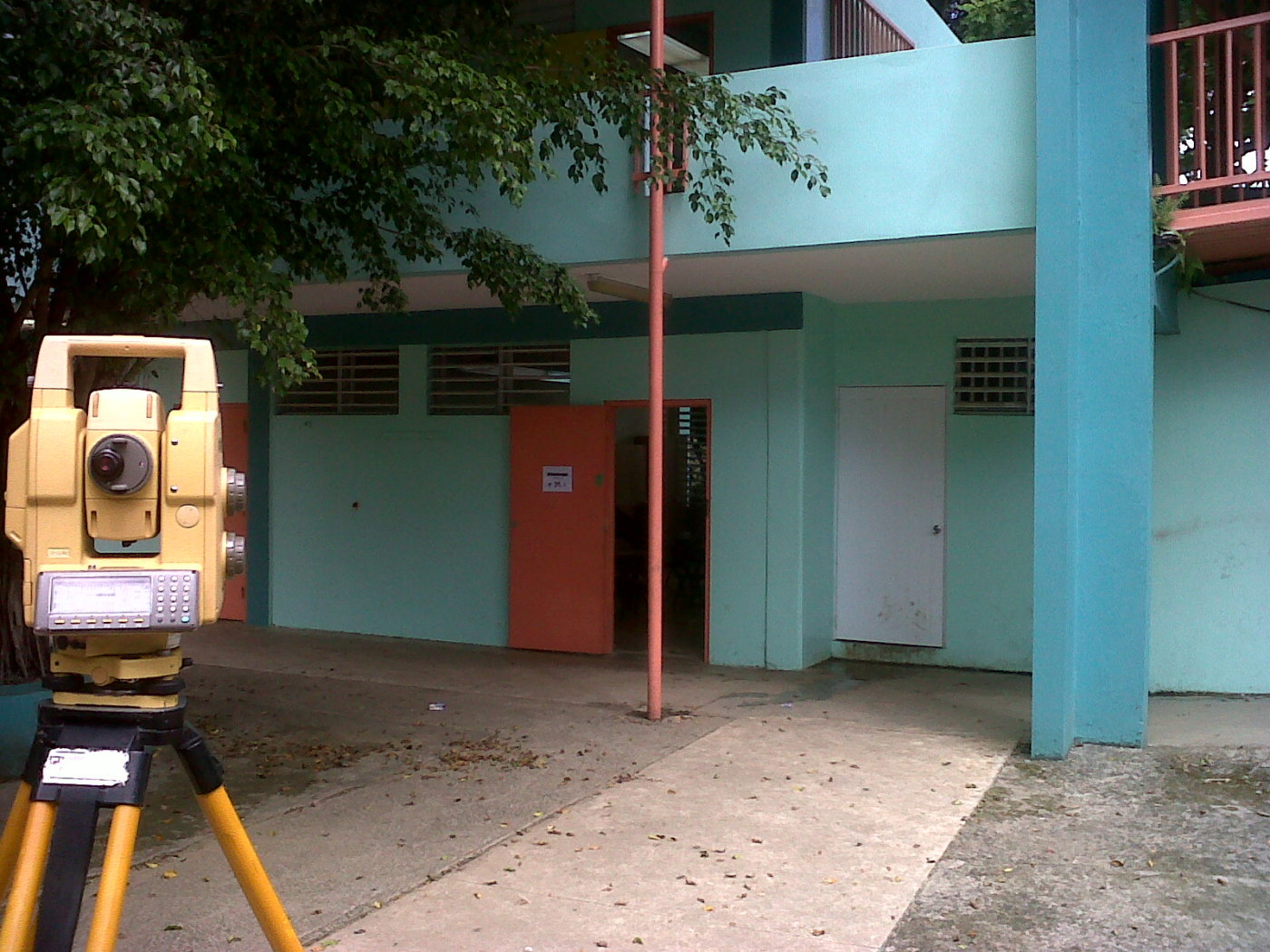 Surveying a school @ caguas PR