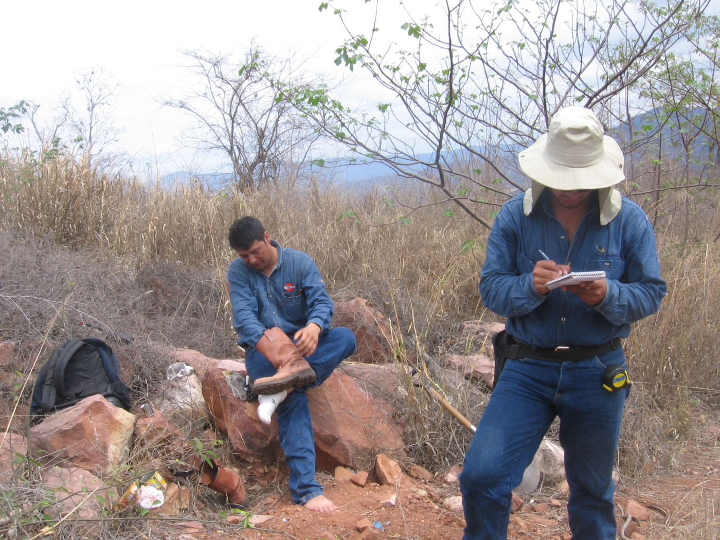 Surveyors in Bolivia
