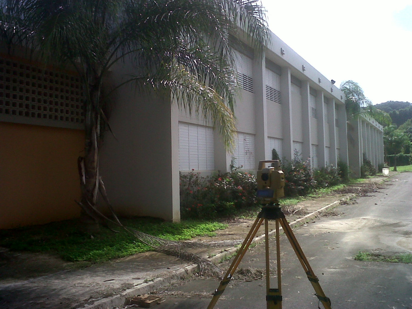 Surveying a school for new storm sewer - 2