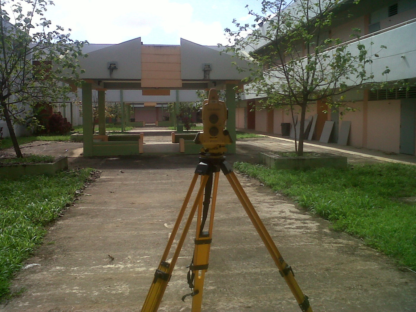 Still surveying a school for new storm sewer- 1