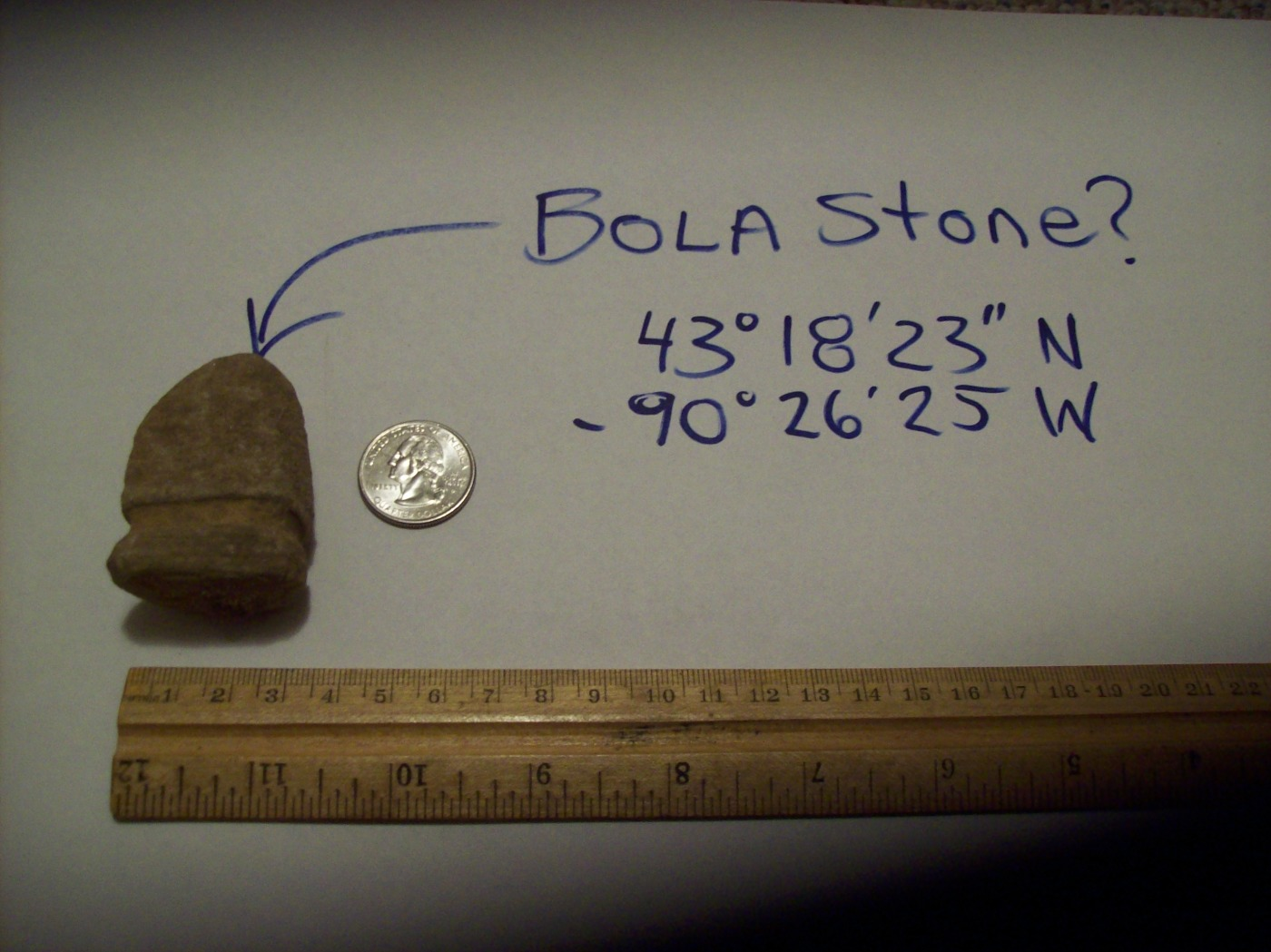 Paleo-Indian Bola Stone?
