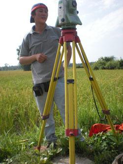 Myanmar Surveyor in High Grass