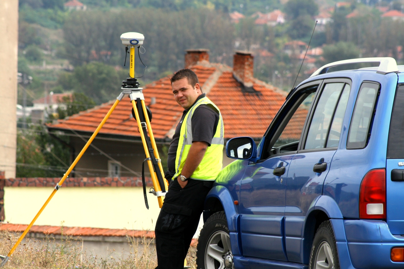 GPS measurements in Lom town, Bulgaria