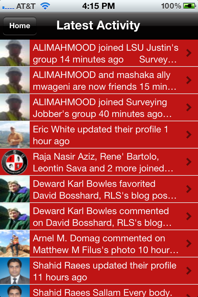 latest activity land surveyors united mobile preview