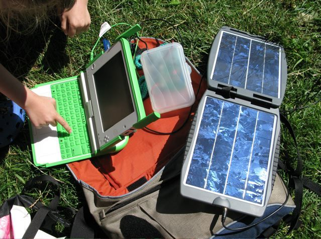 charging data collector in field solar