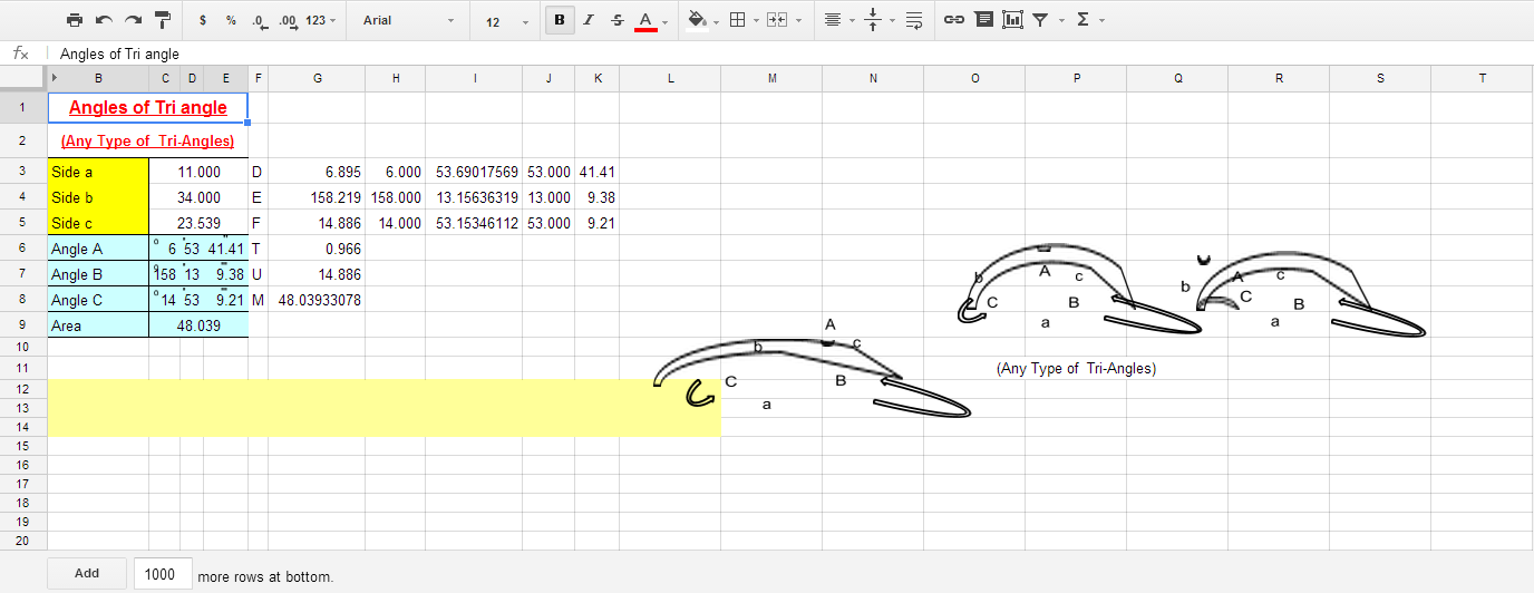 surveying spreadsheet for curve calculations