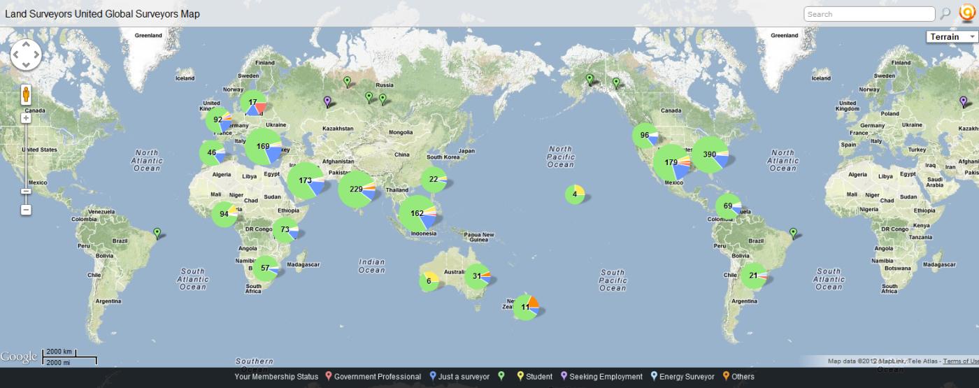 global surveyors map
