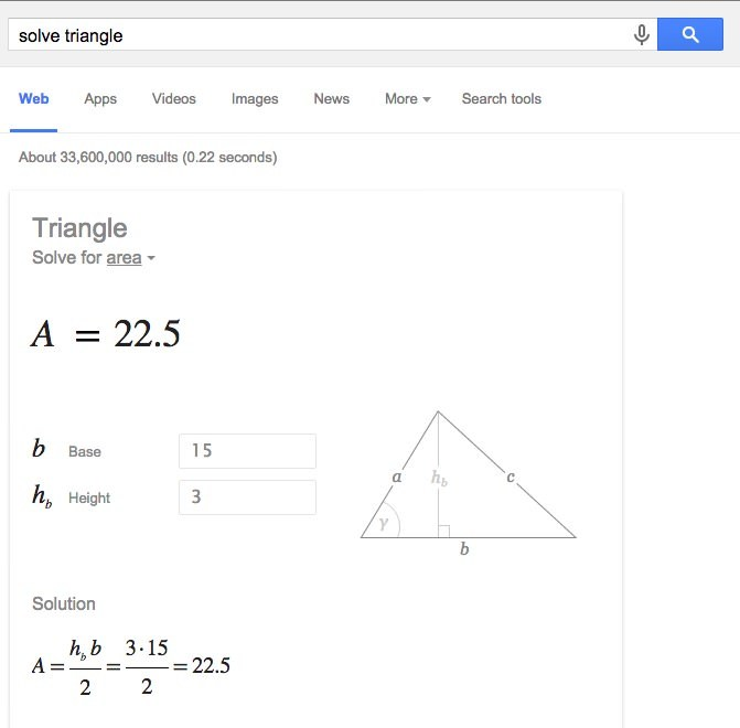 How to Quickly Solve Geometrical Shapes with Google Search