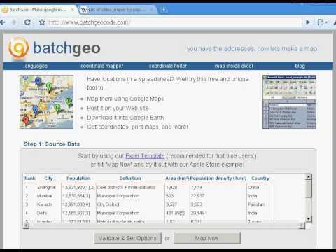 BatchGeo-Map Spreadsheet Addresses Onto a Map