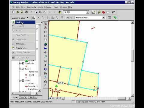 Introduction to the Cadastral Editor in ArcGIS Survey Analyst 9 2