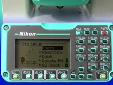 Nikon Total Station - Recording Data: Basic Total Station Use - Land
