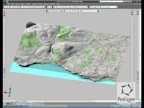 3D data in AutoCAD Map 3D 2009
