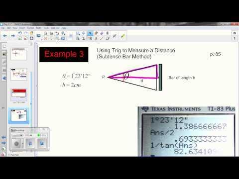 Trig 2.5 Surveying:  Subtense Bar Method