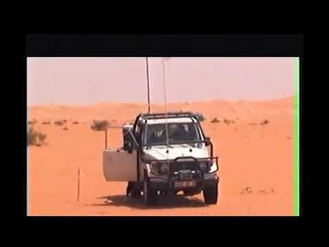 Surveyors in Sand dunes algeria Area