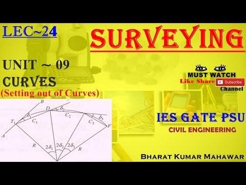 Surveying Curves(Setting Out of Curve) by Bharat Kumar Mahawar ~ Lec 24~U9 ~