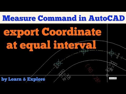 Export coordinates at equal intervals from a centerline | AutoCAD to Excel | MEASURE Command