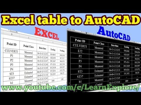 How to insert excel table in to AutoCAD //Data Link//Excel//AutoCAD