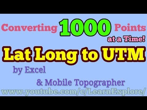 Lat Long to UTM by Excel and Mobile Topographer - Land