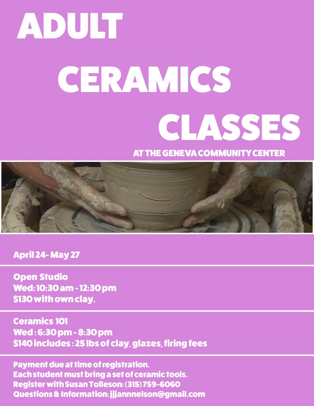 Adult Spring Ceramic Class